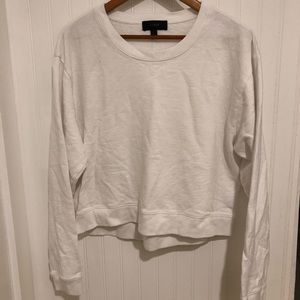 J. Crew white terry crewneck sweatshirt L
